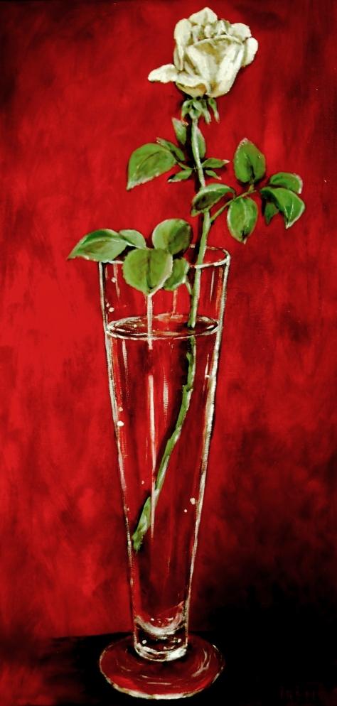Irène Mids - fleurs - acrylique sur toile - image