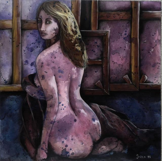 Les Bleus - acrylique sur toile - auteur Irène Mids